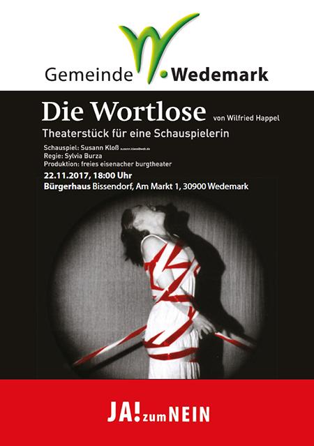 """""""Die Wortlose"""" - Theater anlässlich des Internationalen Tages gegen Gewalt gegen Frauen"""