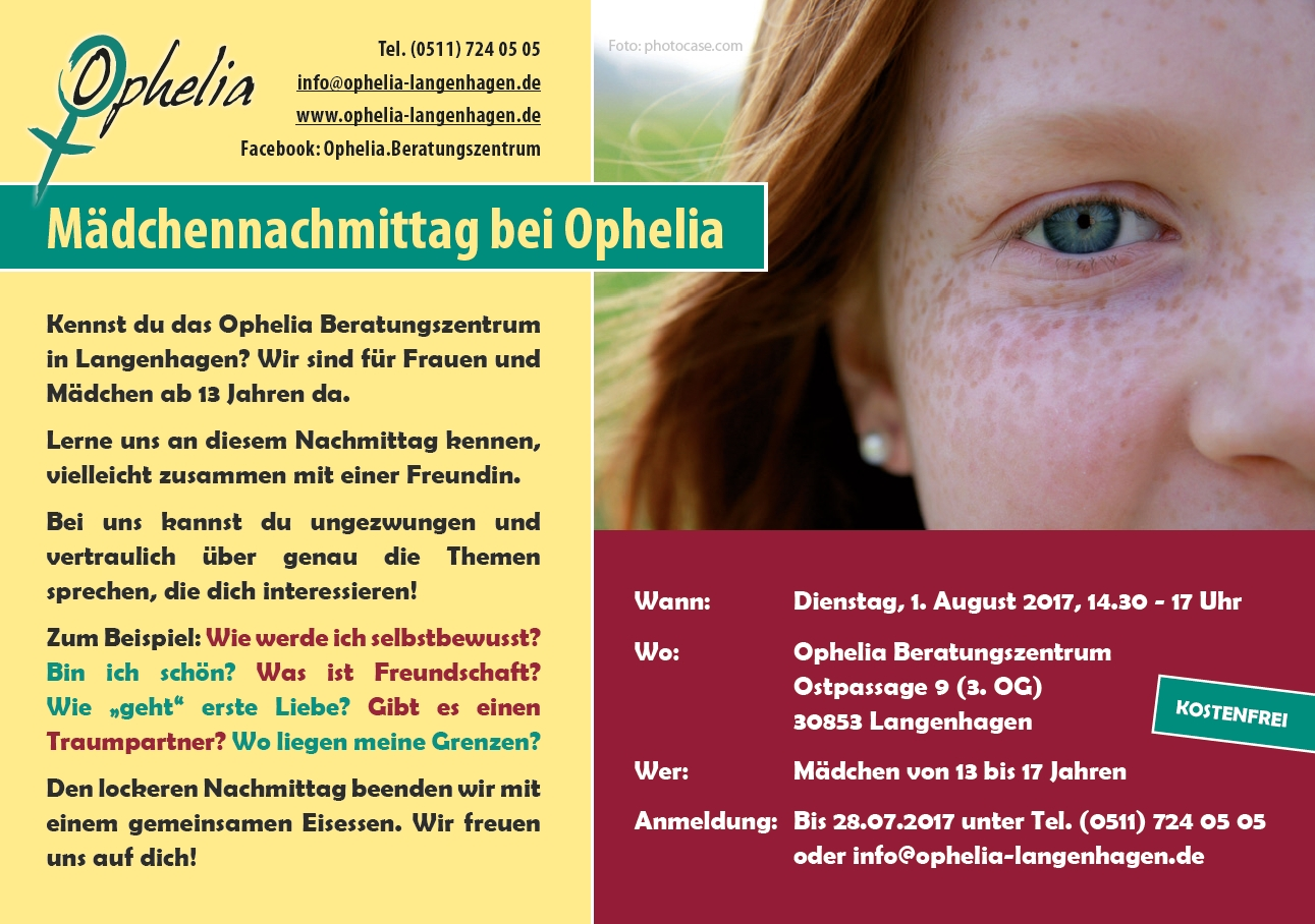Maedchennachmittag bei Ophelia